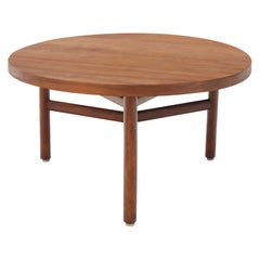 Thick Solid Teak Top Round Coffee Center Table