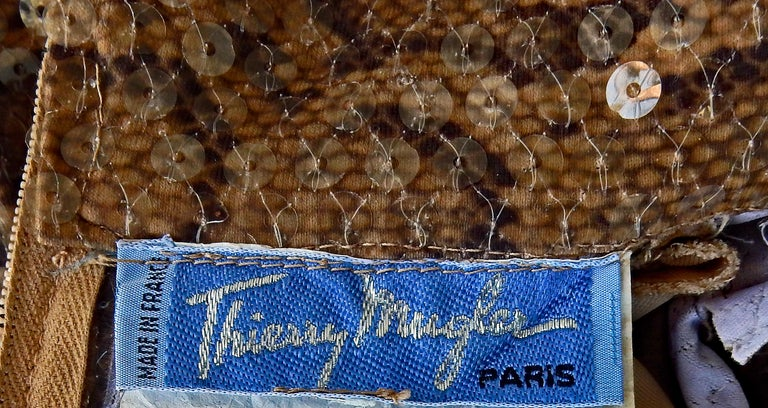 Thierry Mugler 1983 Python Beaded Body Hugging Dress  WOW For Sale 2