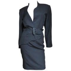 Thierry Mugler Asymmetric jacket Skirt Suit