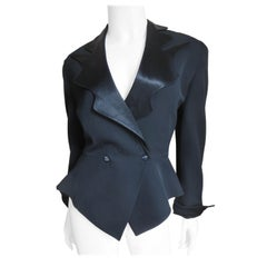 Thierry Mugler Asymmetric Lapel Jacket with Cut Out Back