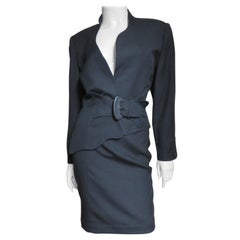 Thierry Mugler Asymmetric Skirt Suit