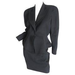Thierry Mugler black suit, 1990s