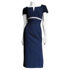 Thierry Mugler Chain Trim Dress