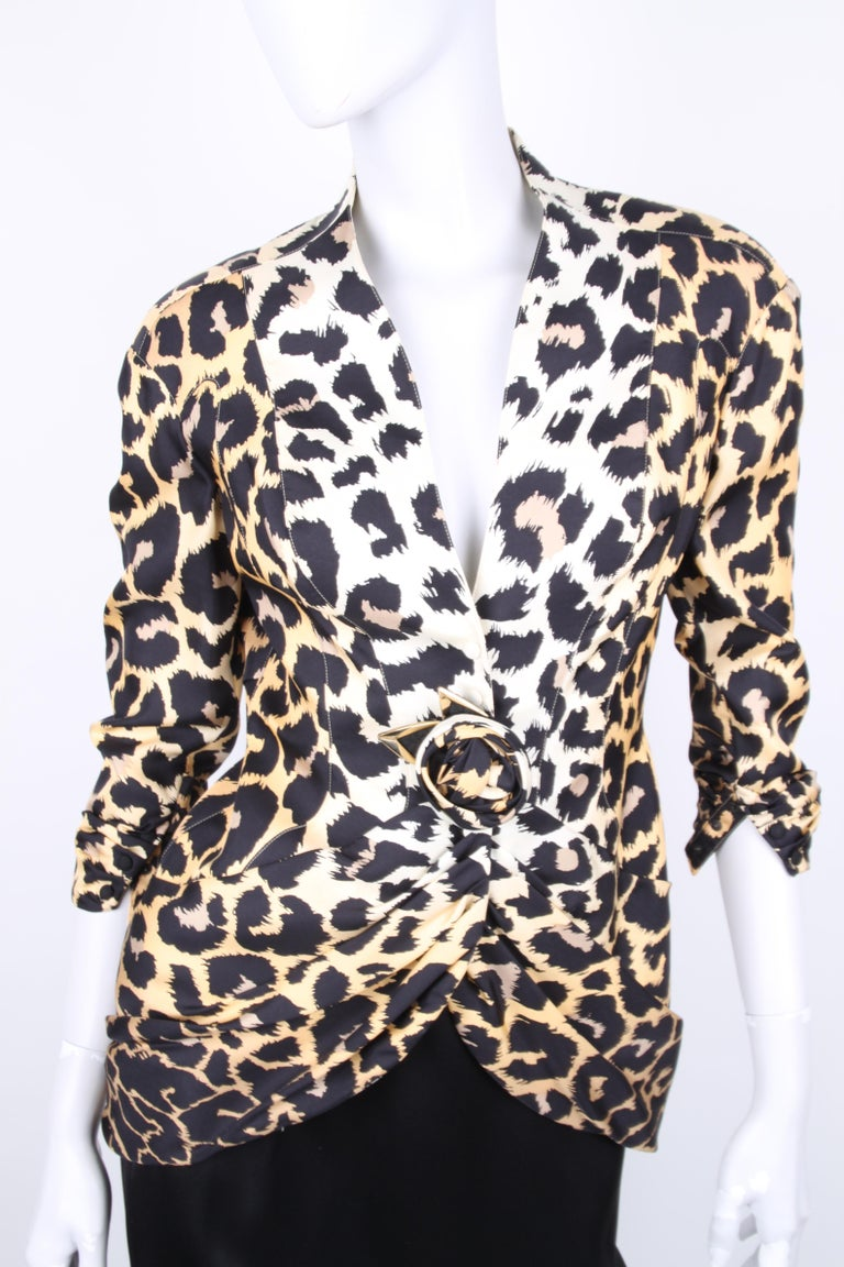 Women's Thierry Mugler Couture Leopard Print Jacket For Sale