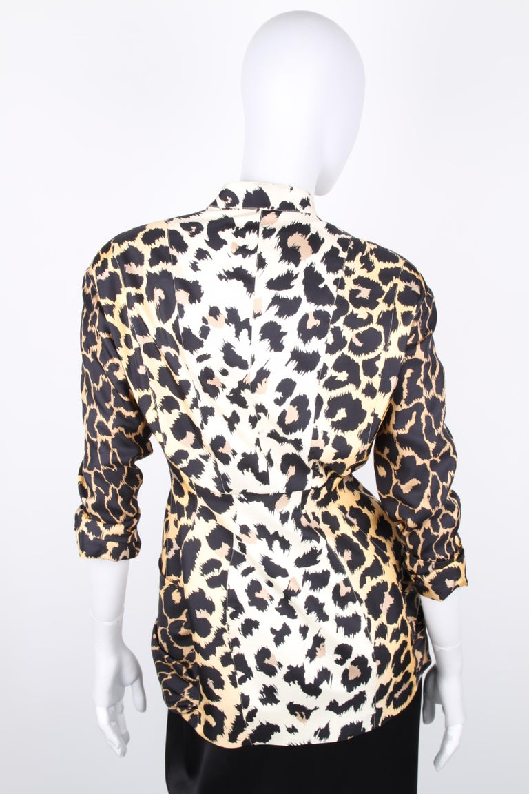 Thierry Mugler Couture Leopard Print Jacket For Sale 2