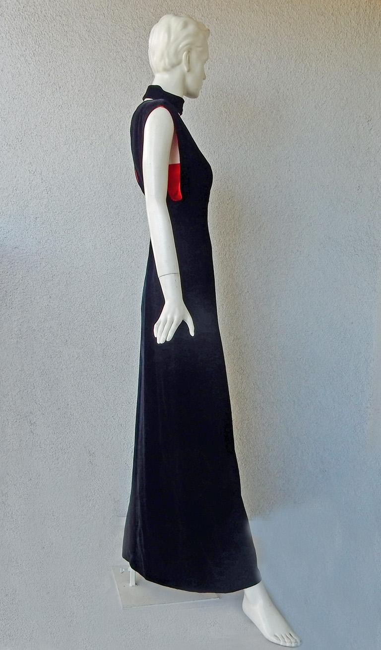 Thierry Mugler Couture Old Hollywood Glamour 30's Style Dress Gown In Excellent Condition For Sale In Los Angeles, CA