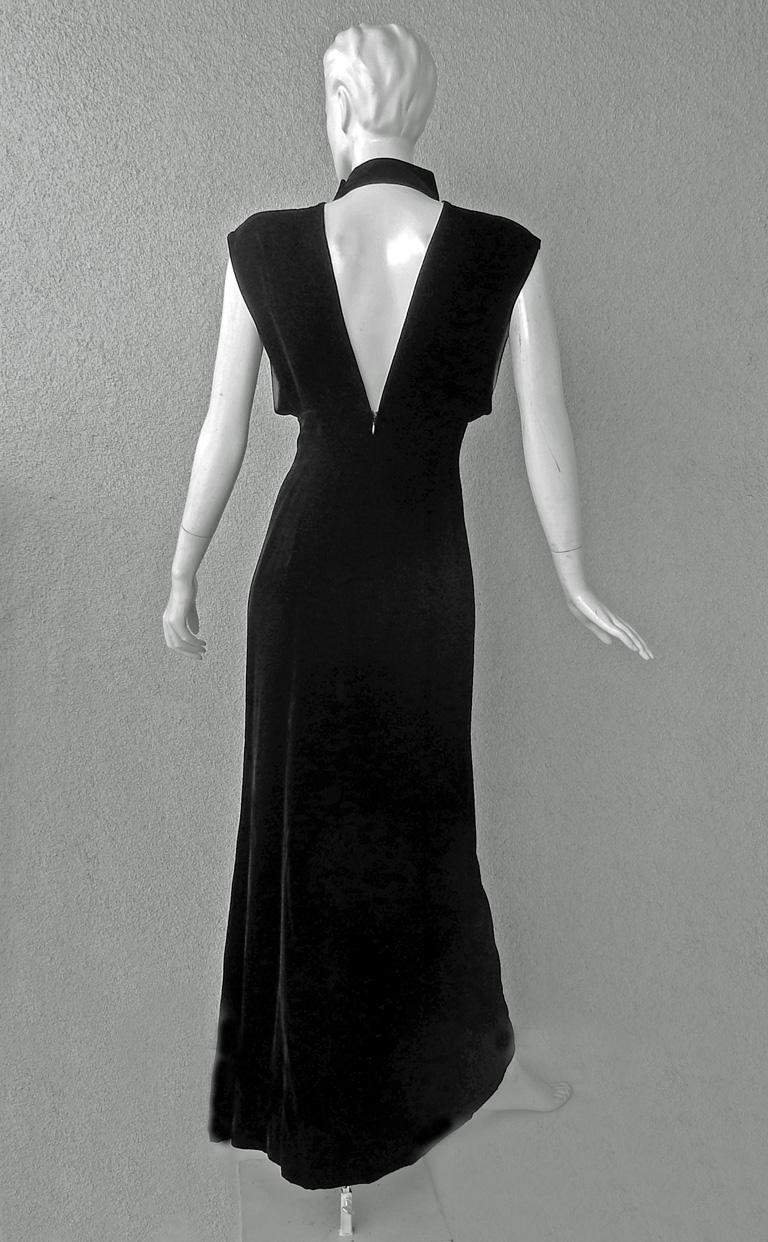 Thierry Mugler Couture Old Hollywood Glamour 30's Style Dress Gown For Sale 1