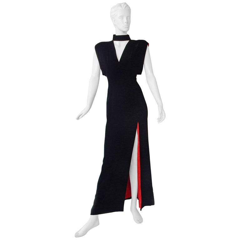 Thierry Mugler Couture Old Hollywood Glamour 30's Style Dress Gown For Sale