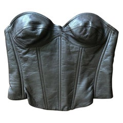 Thierry Mugler Couture Vintage Leather Bustier Top