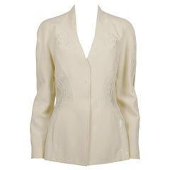 Thierry Mugler Couture Vintage Off White Sequined Jacket