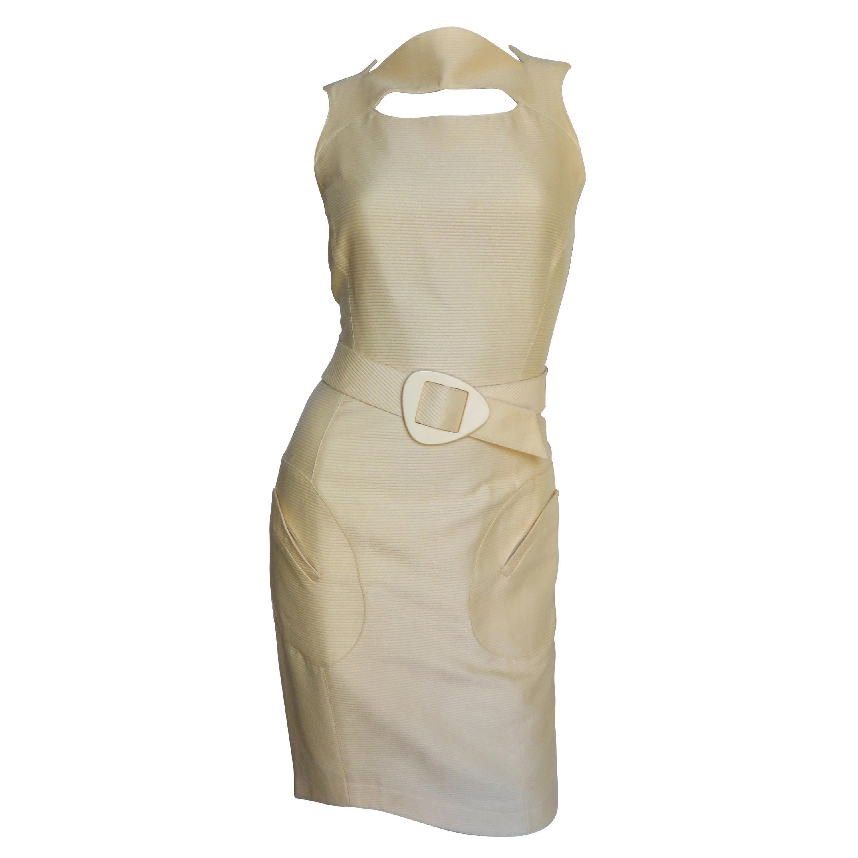Thierry Mugler Cut out Dress with Belt