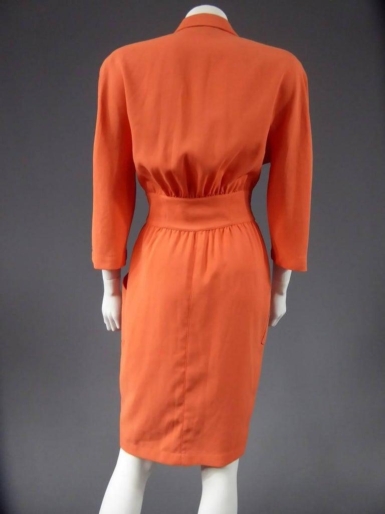 Orange  Thierry Mugler Dress, circa 1988 For Sale