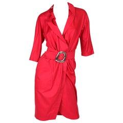 Thierry Mugler Dress - raspberry red