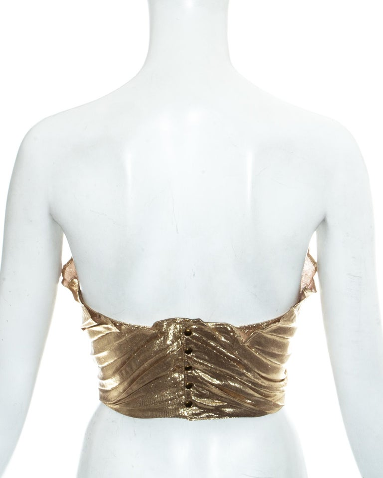 Thierry Mugler gold lamé corset, fw 1978 For Sale 1