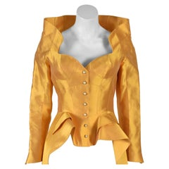 Thierry Mugler Haute Couture 1995 Cirque d'Hiver Gold Jacket worn By Kate Moss