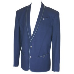 Thierry Mugler Iconic Mens Wool and Leather Jacket