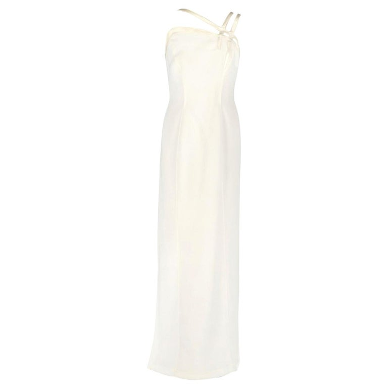 Vintage Wedding Dresses For Sale: Thierry Mugler Ivory White Vintage Wedding Dress, 1990s