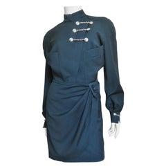 Thierry Mugler Military Influence Wrap Dress