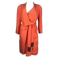 Thierry Mugler Orange Dress Metallic Fringes Large