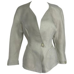 Thierry Mugler Paris Early 1990s Fitted Linen Jacket