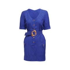 Thierry Mugler  Purple Belted Dress