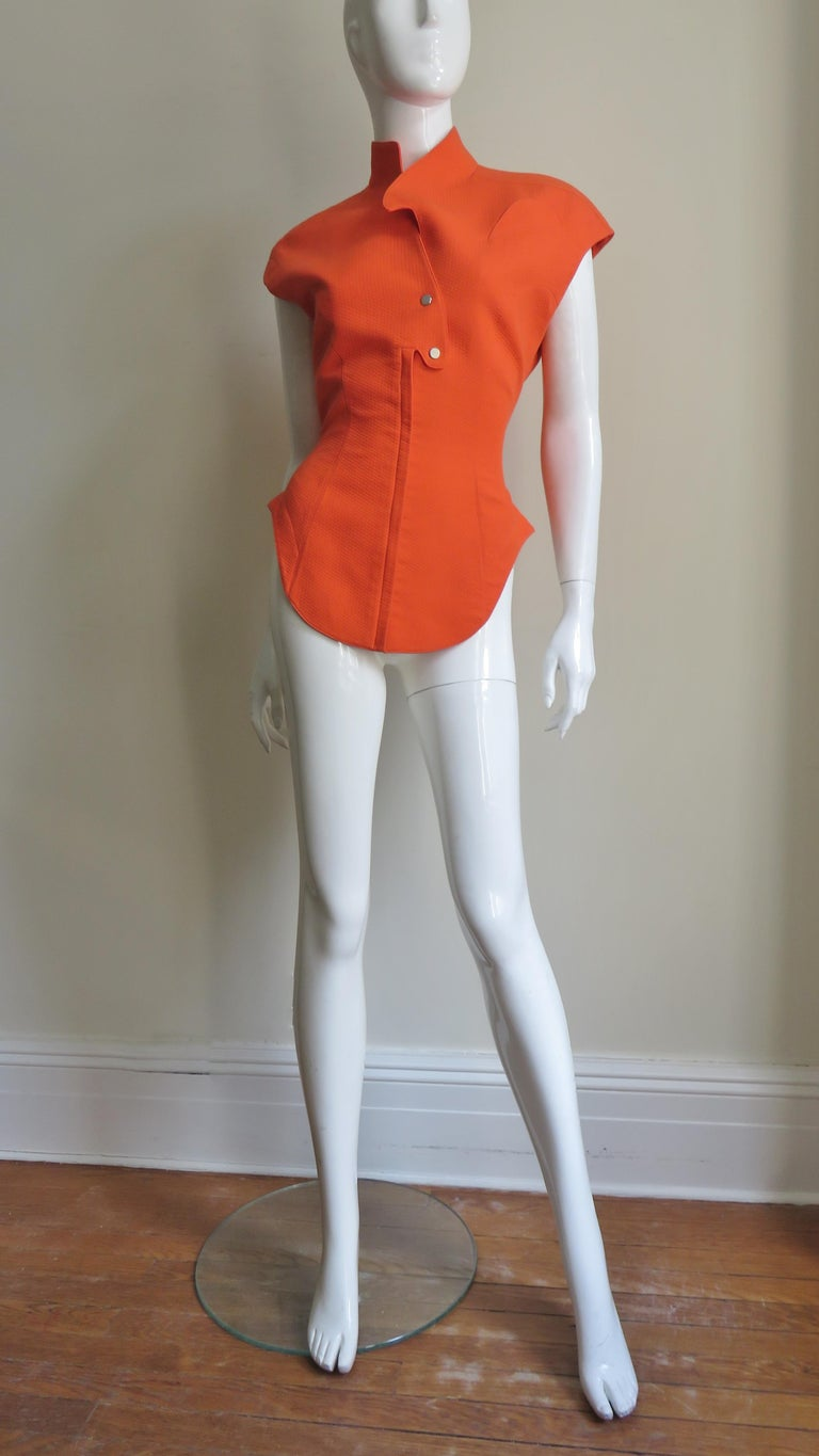 Thierry Mugler Space Age Jacket Top For Sale 3