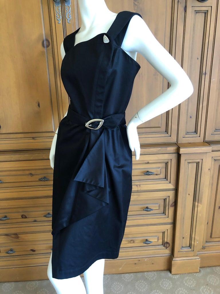 Thierry Mugler Vintage 1980's Little Black Dress with Mod Belt For Sale 4