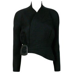 Thierry Mugler Vintage Black Asymmetrical Iconic Jacket