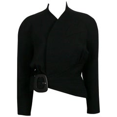 Thierry Mugler Vintage Black Asymmetrical Iconic Jacket