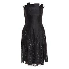 Thierry Mugler Vintage Black Strapless Carwash Jewel Dress - 2