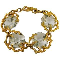 Thierry Mugler Vintage Crystal Prisms Bracelet
