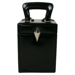 Thierry Mugler Vintage Malette Black Top Handle Bag
