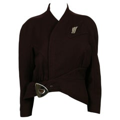 Thierry Mugler Vintage Plum Asymmetrical Iconic Supple Jacket