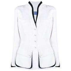 Thierry Mugler White Cotton Jacket