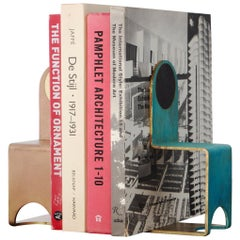 Thin Book Ends in Contemporary Bronze and Steel in various Patinas