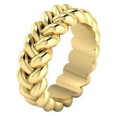 Thin Braid Ring by Romae Jewelry in 22 Karat Yellow Gold