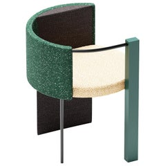 "Thin, Metal-Framed ""Apart Chair"" Green Edition"