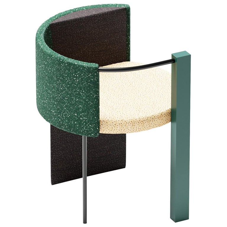 "Thin, Metal-Framed ""Apart Chair"" Green Edition For Sale"