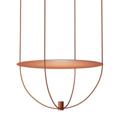"Thin, Metal-Framed Pendant Lamp from ""Disused Collection"""