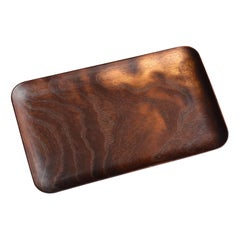 Thin Small Tray Made of Old Japanese Mulberry / Shop Card Holder / Tea Tray