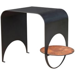 Thin Table 1 in Contemporary Blackened Steel and Oxidized Steel