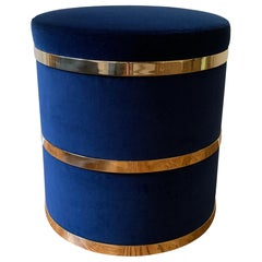 Thing 2 Stool with Brass and Velvet or COM