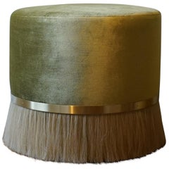Large Thing 3 Stool with Brass and Horse Hair