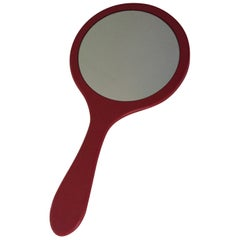 Think Big Red Lacquer Massive Hand Mirror Design Mirror