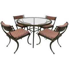 "Thinline ""Klismos"" Dining Table and Chairs"