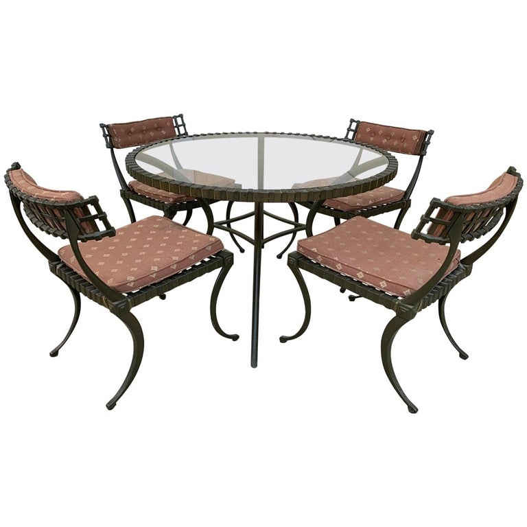 """Thinline """"Klismos"""" Dining Table and Chairs For Sale"""