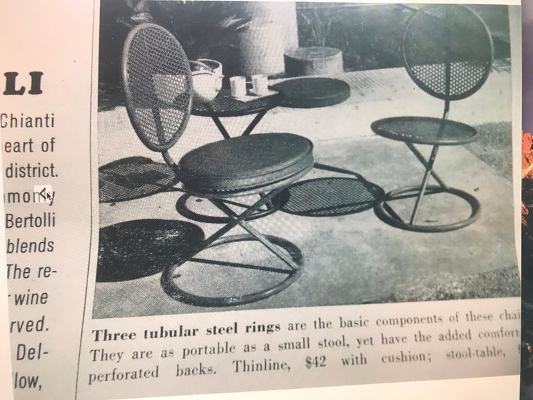 Mid-Century Modern Thinline Occasional Low Chairs, 1950s For Sale