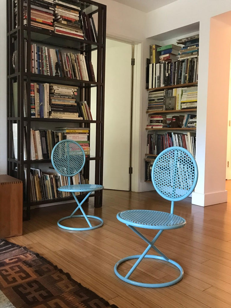 Thinline Occasional Low Chairs, 1950s In Good Condition For Sale In Los Angeles, CA