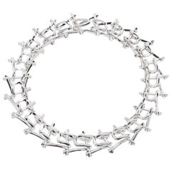 Third Crown Marcy Link Necklace in Rhodium Plated Brass