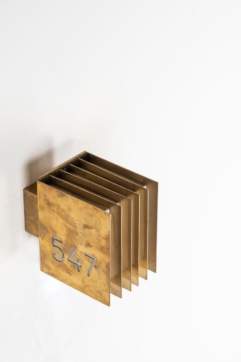 Brass Thirteen Wall Lamps by Lars Gunnar‐Nordström For Sale